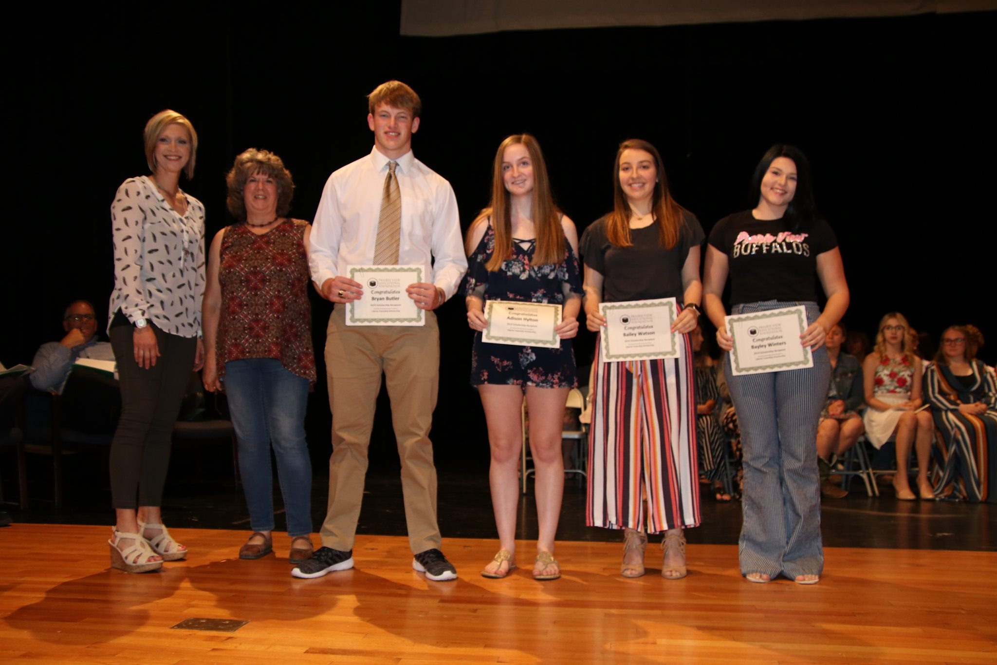 2019 Liberty Township Scholarship Recipients: Bryan Butler, Adison Hylton, Bailey Watson, Bayley Winters
