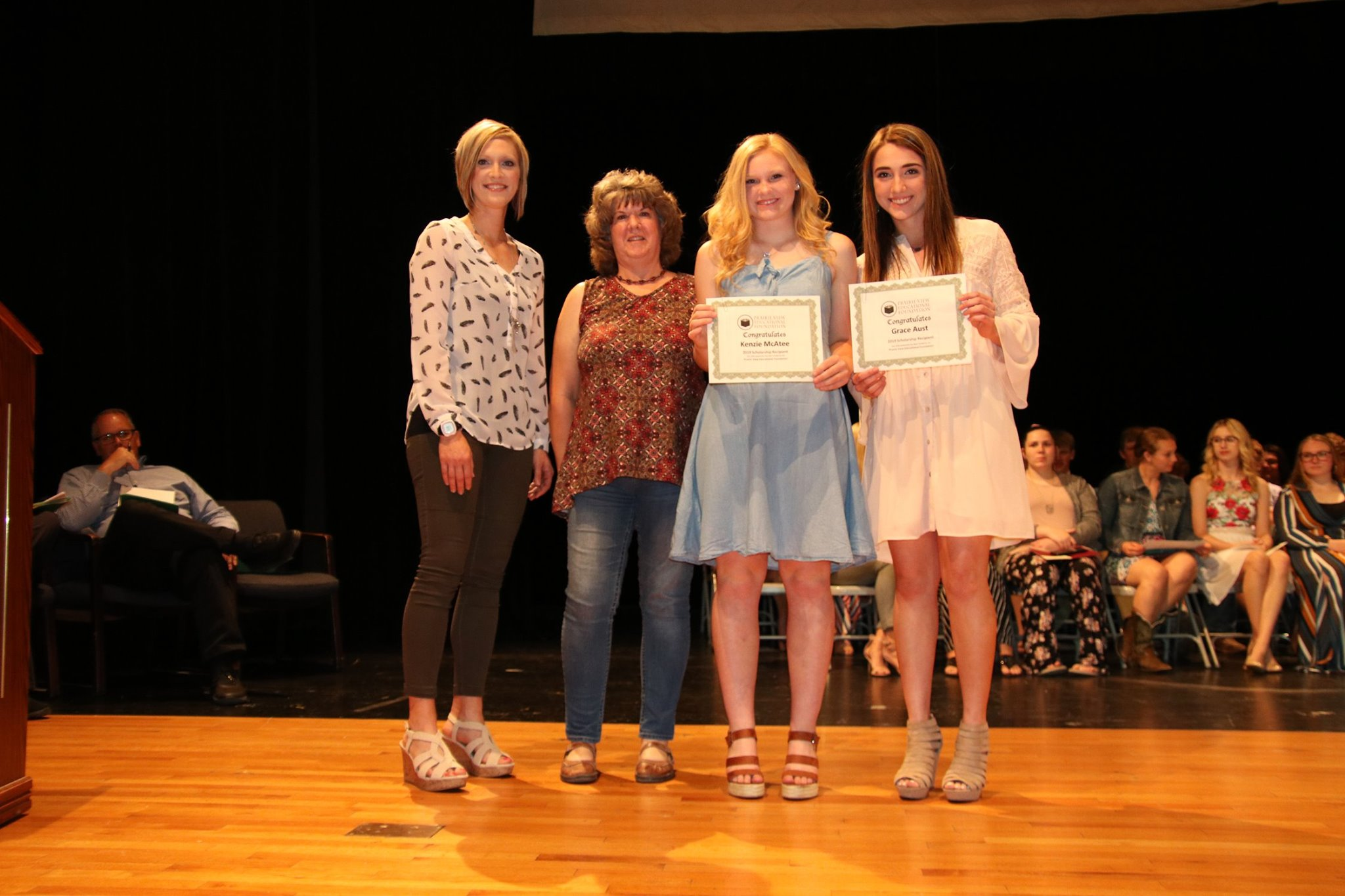 2019 Prairie View Educational Foundations Scholarship Recipients Kenzie McAtee and Grace Aust