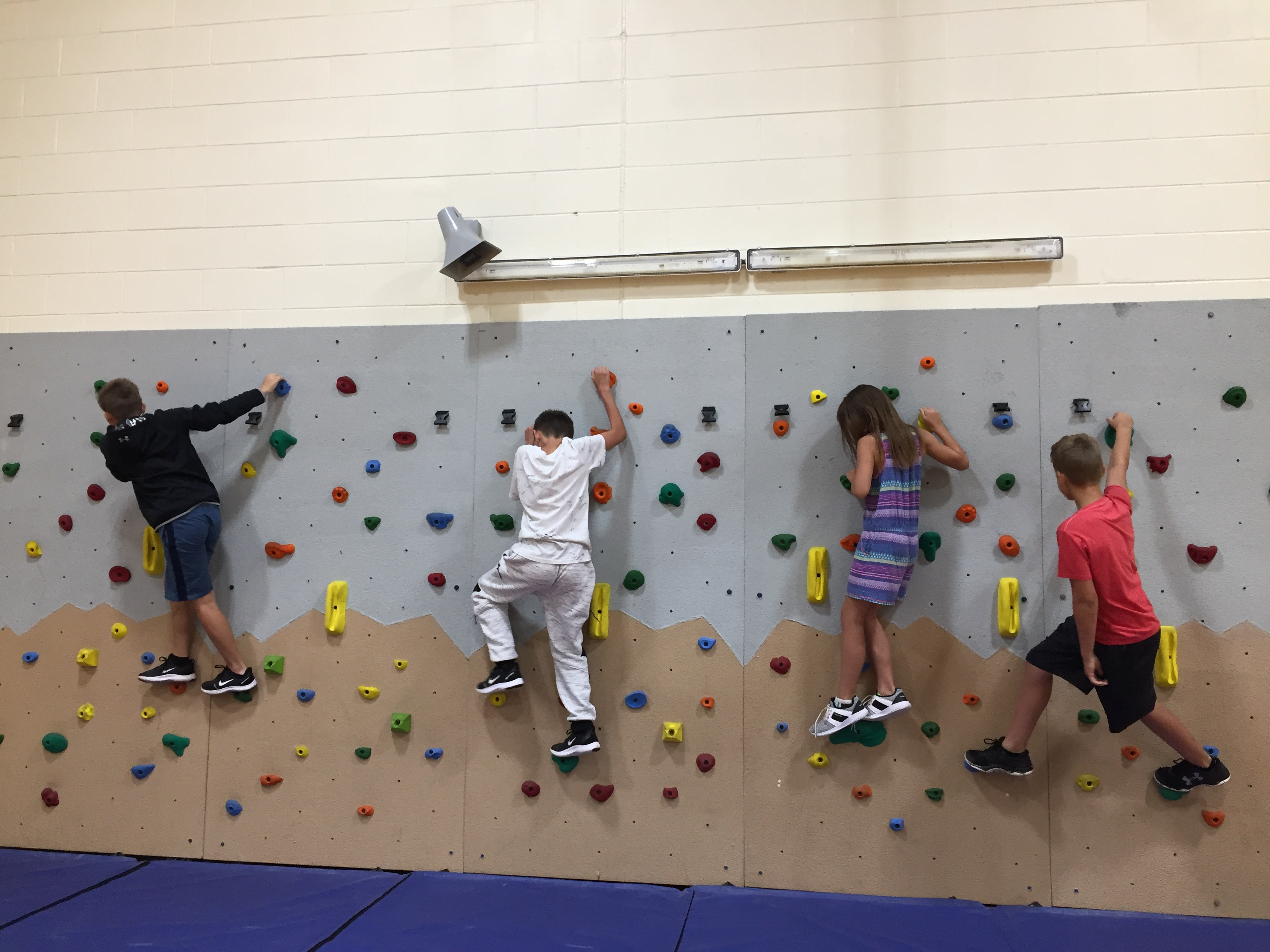 Rock Wall for the La Cygne Gymnasium